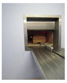 Cercueil en cellulose en crématorium