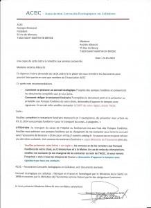 Lettre recommandations ACEC